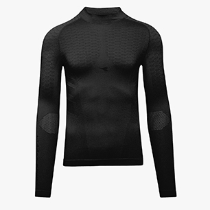 LS TURTLE NECK ACT, BLACK, medium