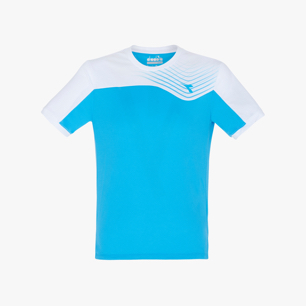 J. T-SHIRT COURT, AZZURRO FLUO, medium