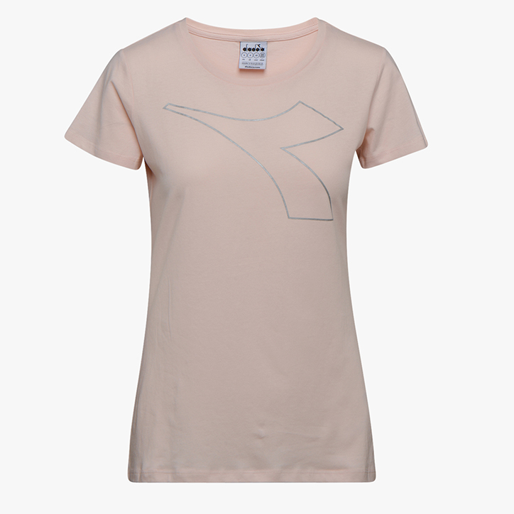 L.SS T-SHIRT FREGIO, SILVER PEONY, large