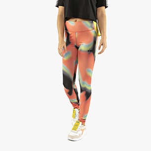 FLOWERS LEGGINS, BLACK/LIVING CORAL, medium