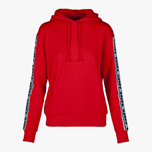 L. HOODIE TROFEO, POPPY RED, medium