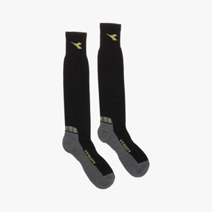 COTTON WINTER SOCKS, BLACK/GREY, medium