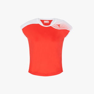 G. T-SHIRT COURT, RED, medium