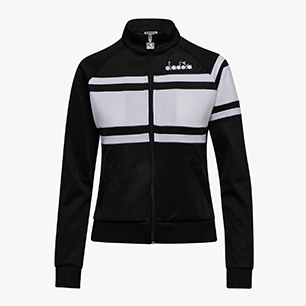 L. JACKET 80S, BLACK/WHITE, medium