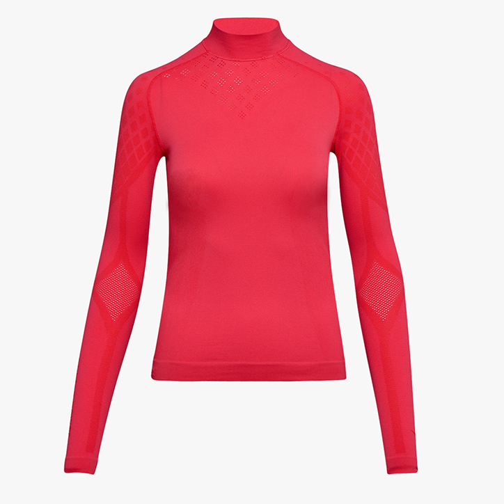 L. TURTLE NECK ACT, RED FLAME, large