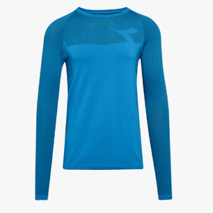 LS TECHFIT T-SHIRT, SKY-BLUE MALIBU, medium