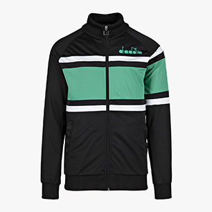 JACKET 80S, BLACK/HOLLY GREEN, medium