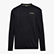 SWEATSHIRT CREW BLKBAR, BLACK, swatch