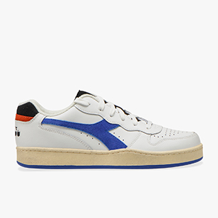 MI BASKET LOW ICONA, WHITE/AMPARO BLUE/ORANGEADE, medium