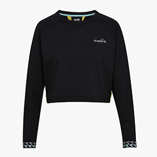L. LIGHTWEIGHT SWEAT BE ONE, BLACK/GOLDFINCH, medium