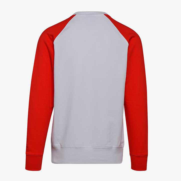 SWEATSHIRT CREW SPECTRA, IVORY WHITE/TOMATIO RED/ESTATE, large