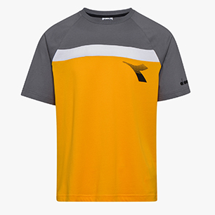 T-SHIRT SS DIADORA CLUB, YELLOW SAFFRON, medium