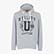 SWEATSHIRT HOOD GRAPHIC, LIGHT MIDDLE GREY MELANGE , swatch