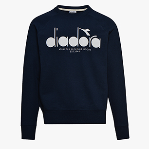SWEATSHIRT CREW 5PALLE, DENIM BLUE, medium