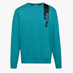 SWEATSHIRT CREW ICON, ACQUA GREEN, medium