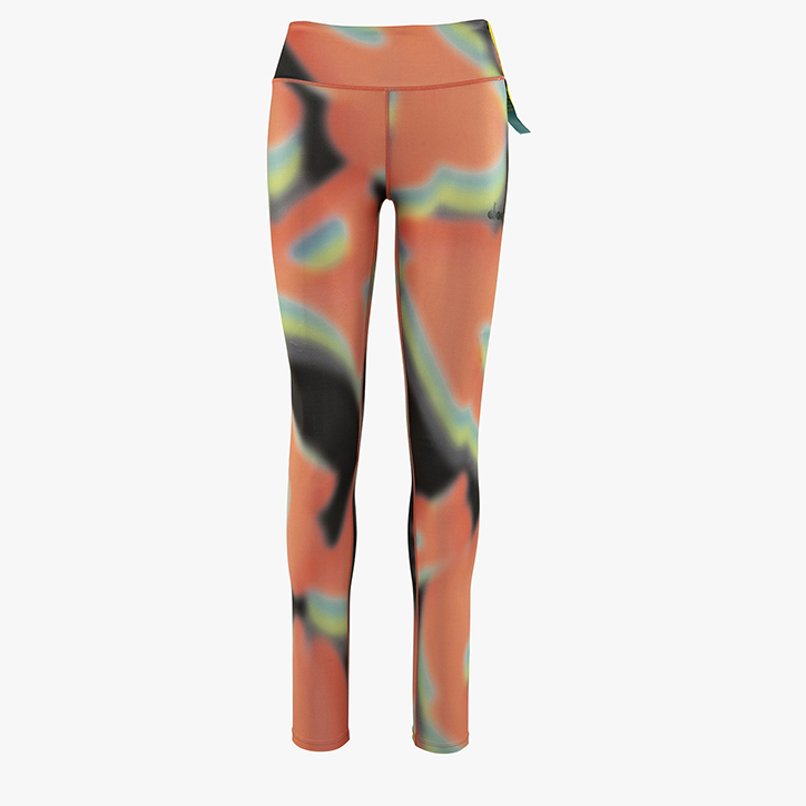 FLOWERS LEGGINS, BLACK/LIVING CORAL, large