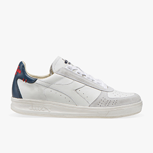 B.ELITE H LEATHER DIRTY, BLANC/DENIM BLEU, medium