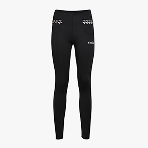 L. HW RUNNING TIGHTS, BLACK, medium