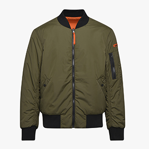 BOMBER JACKET INSIDEOUT, GREEN RAGE, medium