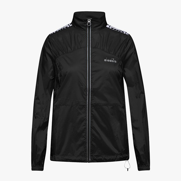 L. LIGHTWEIGHT WIND JACKET, BLACK, large