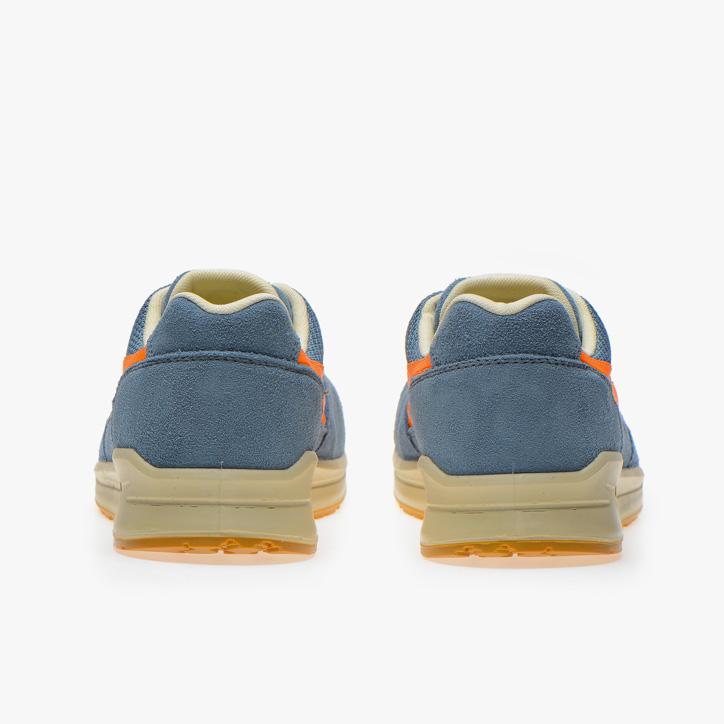 D-JUMP LOW S1P SRC ESD, FADED DENIM/FLAME ORANGE, large