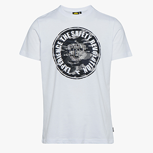 T-SHIRT GRAPHIC, BLANC  , medium