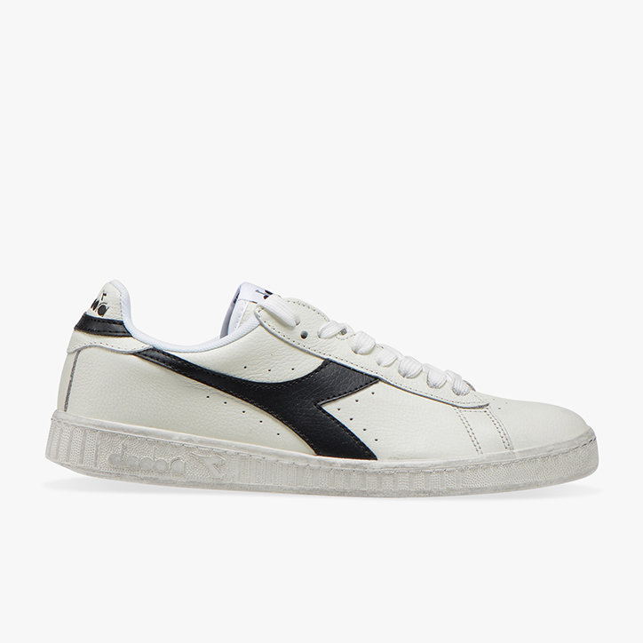 GAME L LOW WAXED, WHITE /BLACK, large