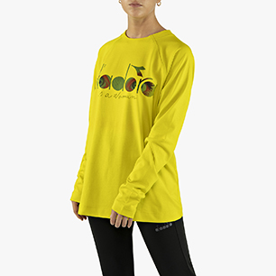 FLOWERS LONG SLEEVE T-SHIRT, GREEN SPRING, medium