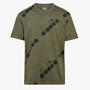 T-SHIRT SS 5PALLE AOP, GREEN RAGE, medium