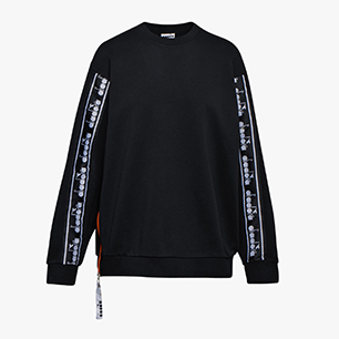 L. SWEATSHIRT CREW TROFEO, BLACK, medium