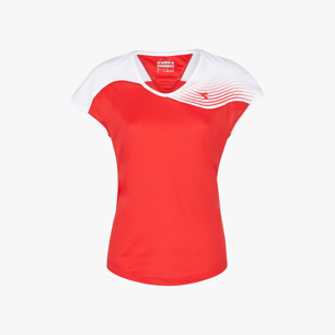 L. T-SHIRT COURT, TOMATO RED, medium