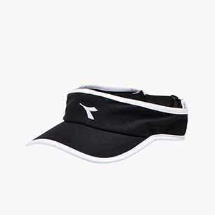 VISOR, BLACK/OPTICAL WHITE, medium