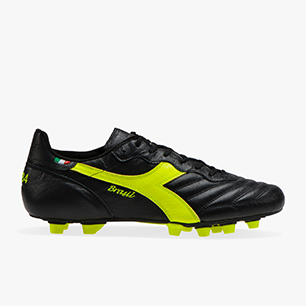 BRASIL ITALY K-PRO MDPU, BLACK/FLUO YELLOW DIADORA, medium