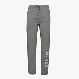COACH PANT, GRAY MELANGE MIDDLE, medium