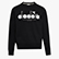 SWEATSHIRT CREW 5PALLE, BLACK/OPTICAL WHITE, swatch