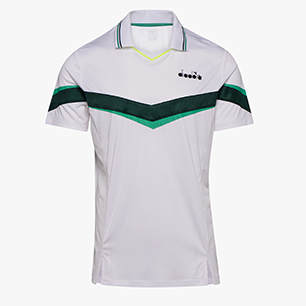 POLO SS, HOLLY GREEN/WHT/BISTRO GREEN, medium
