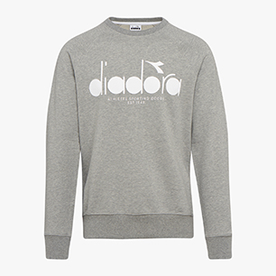SWEATSHIRT CREW 5PALLE, LIGHT MIDDLE GREY MELANGE, medium