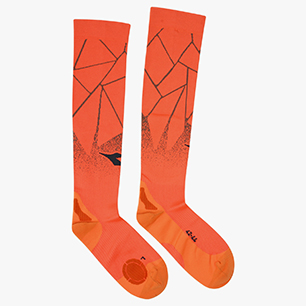 SOCKS OVER THE CALF, LIGHT ORANGE FLUO, medium