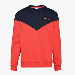 SWEATSHIRT CREW 5PALLE OFFSIDE V, TOMATO RED, medium