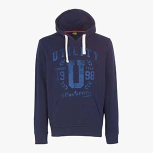 SWEATSHIRT HOOD GRAPHIC, BLUE CORSAIR , medium