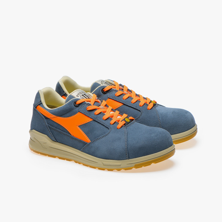 D-JUMP LOW S3 SRC ESD, BLUE DENIM/ORANGE, large