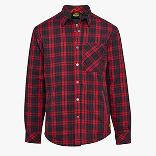 PADDED SHIRT  ISO 13688:2013, BLACK/RED OLEANDER, medium