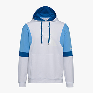 HOODIE DIADORA CLUB, OPTICAL WHITE, medium