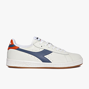 GAME L LOW, WHITE/DARK DENIM/GOLDEN POPPY, medium