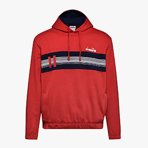 HOODIE SWEAT BLKBAR, TANGO RED, medium