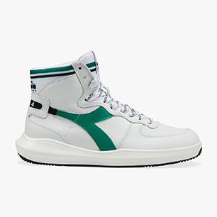 MI BASKET H LEATHER MDS, WHITE/PEPPER GREEN, medium
