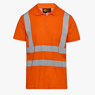 POLO MC HV ISO 20471, FLURESCENT ORANGE, medium