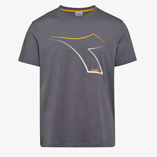 T-SHIRT SS FREGIO CLUB, GRIS TEMPÊTE, medium