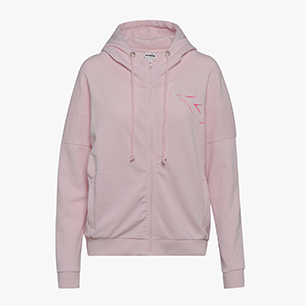 L.HD FZ SWEAT FREGIO, CRADLE PINK, medium