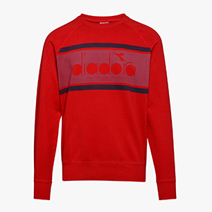 SWEATSHIRT CREW SPECTRA USED, ROSSO SCURO, medium